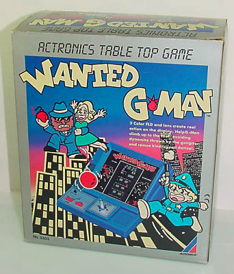 Wanted G-Man Actronics LSI VFD Tabletop Game